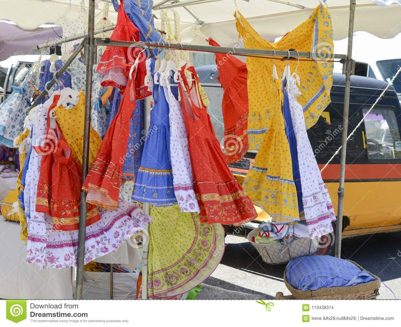 A typical Provencal country dress on the market