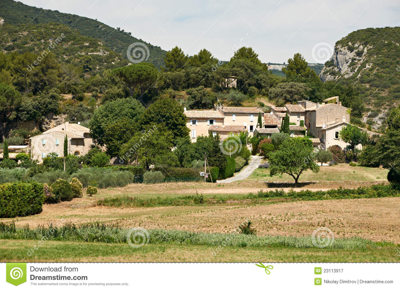 Typical Provence Houses In Luberon France Royalty Free