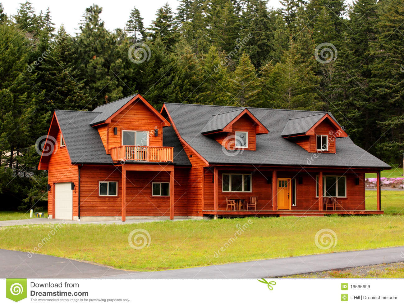 Typical ranch house with dormers stock image image 19595699 for Ranch house blog