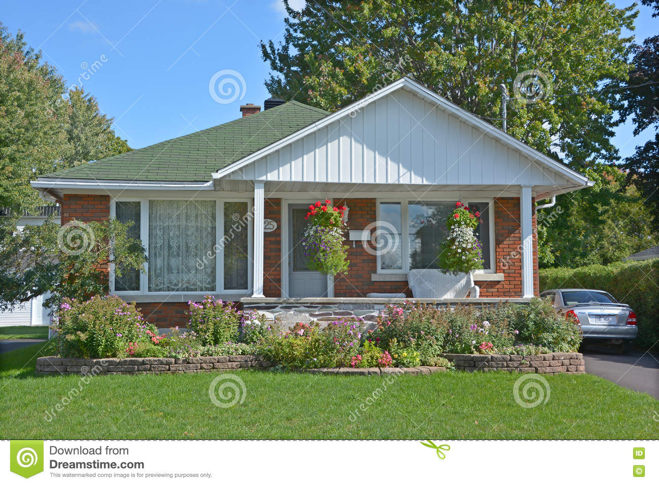 Typical 70s bungalow house editorial stock image image of for Canadian bungalow