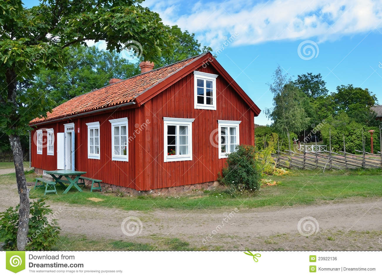 Typical scandinavian wooden house stock photo image 23922136 for Traditional scandinavian home design