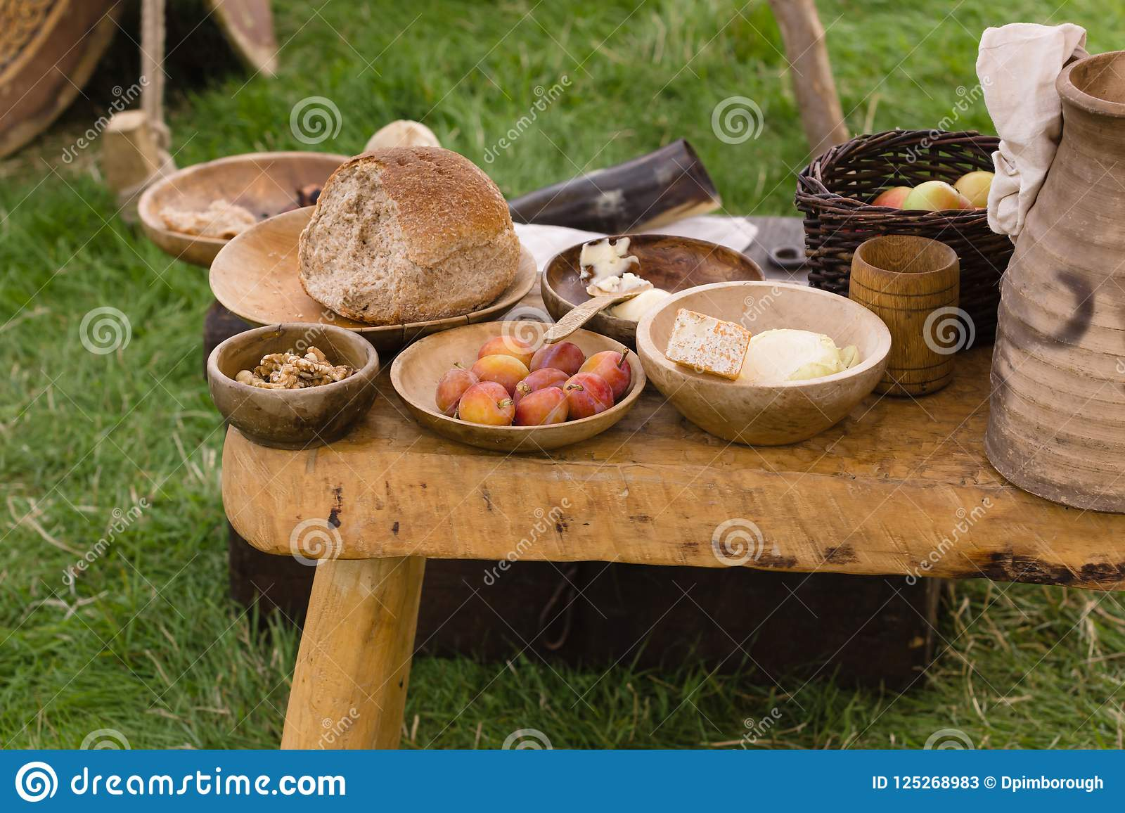 Medieval Food stock image  Image of kingdom, camp, diet - 125268983