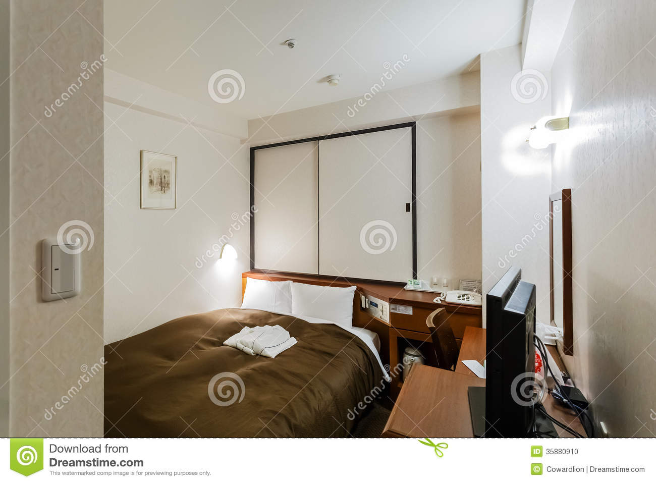 A typical small business hotel room in japan editorial for Small hotel room