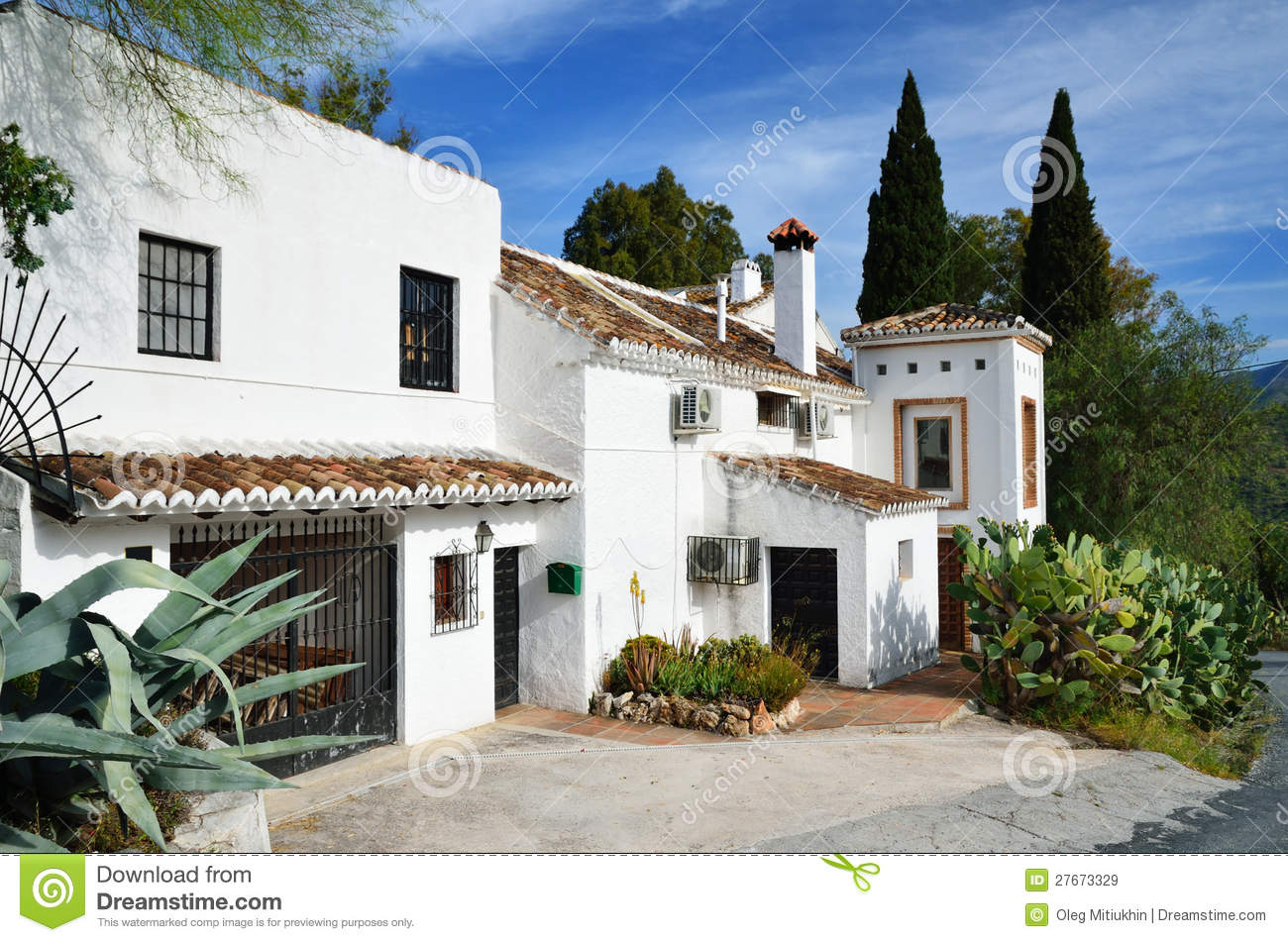 Typical spanish house stock image image of house for Typical house design
