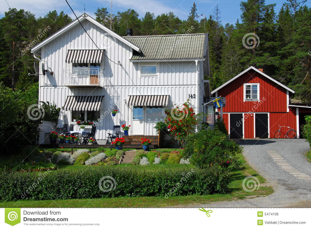 Typical swedish house royalty free stock photos image for Traditional swedish house plans
