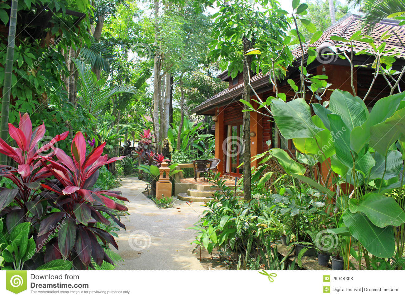 Tropical villa luxury cottage home architecture india for Landscape architects in india