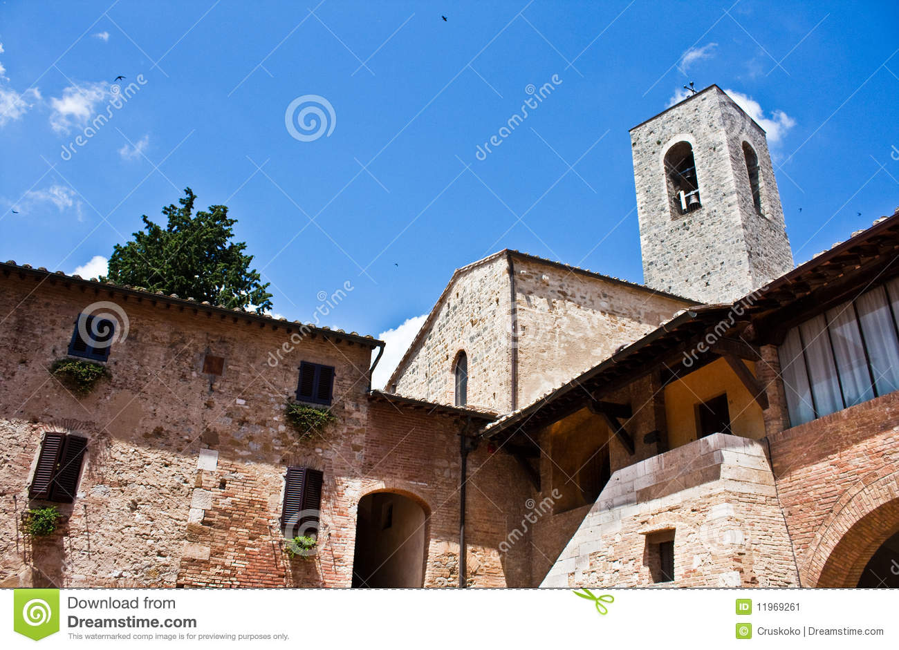 typical tuscan architecture stock image - image: 11969261