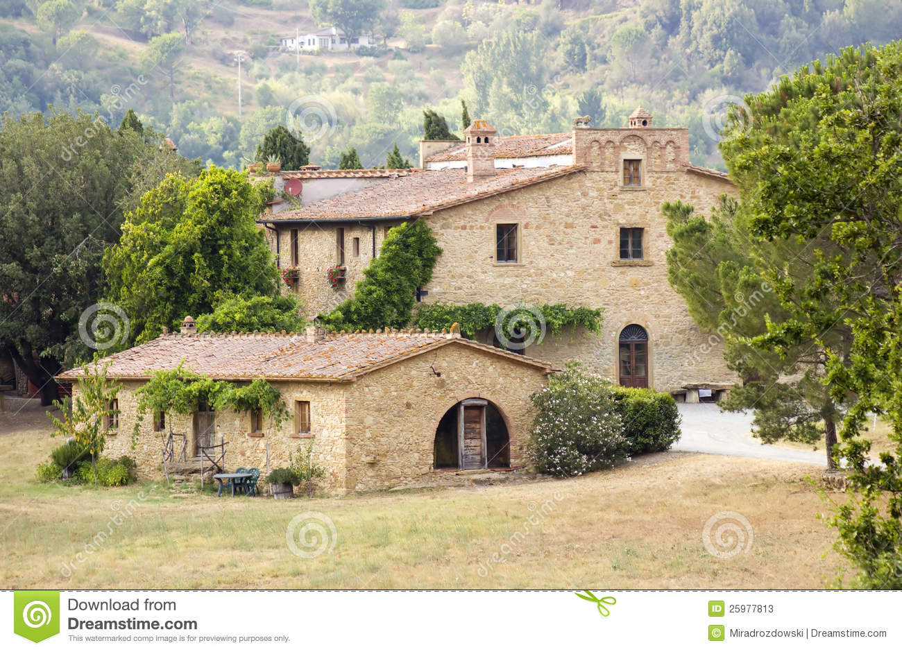 Typical tuscan house stock photos image 25977813 for Tuscany houses