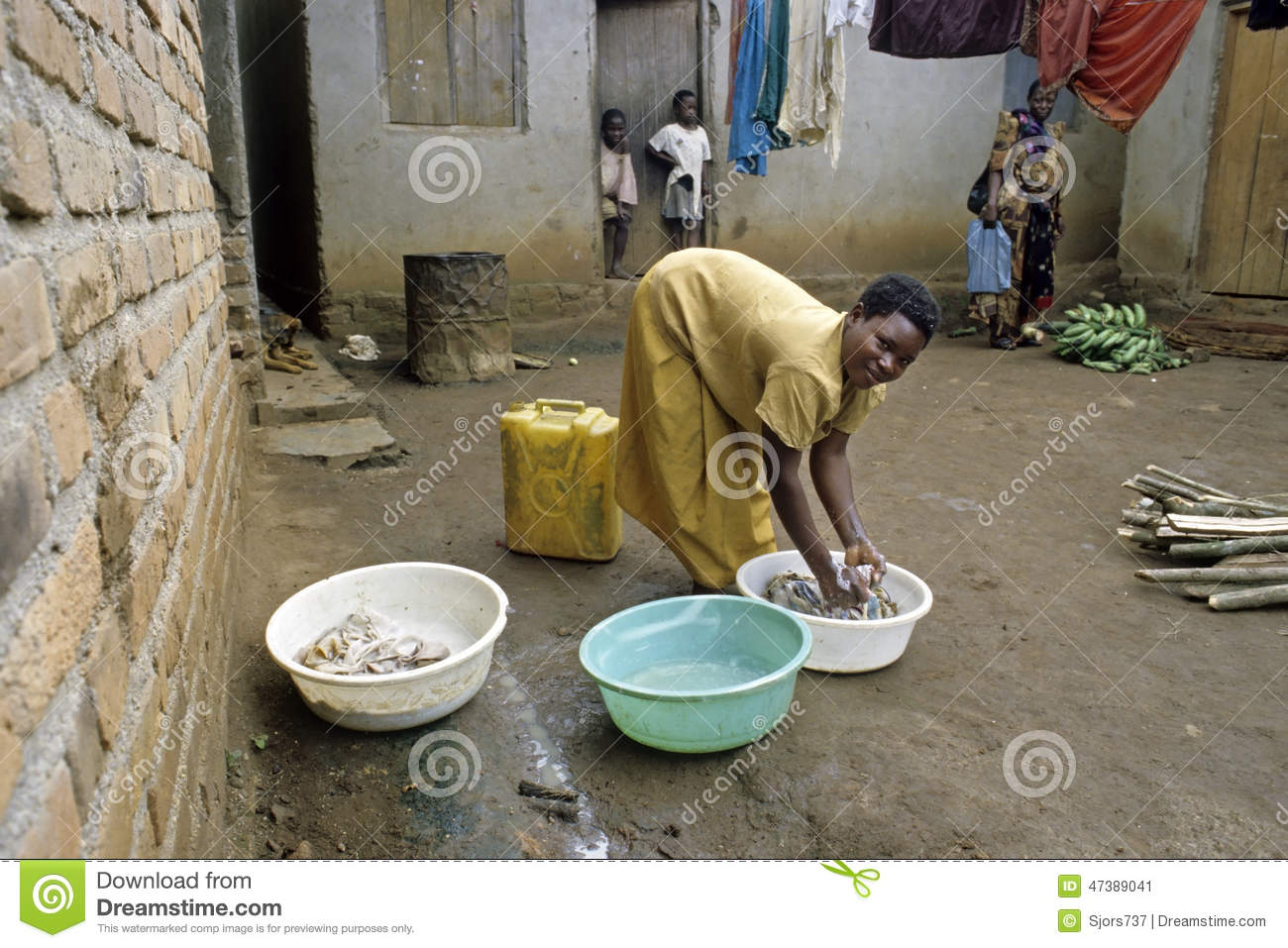 Typical Ugandan Domestic Landscape, Village Life Editorial