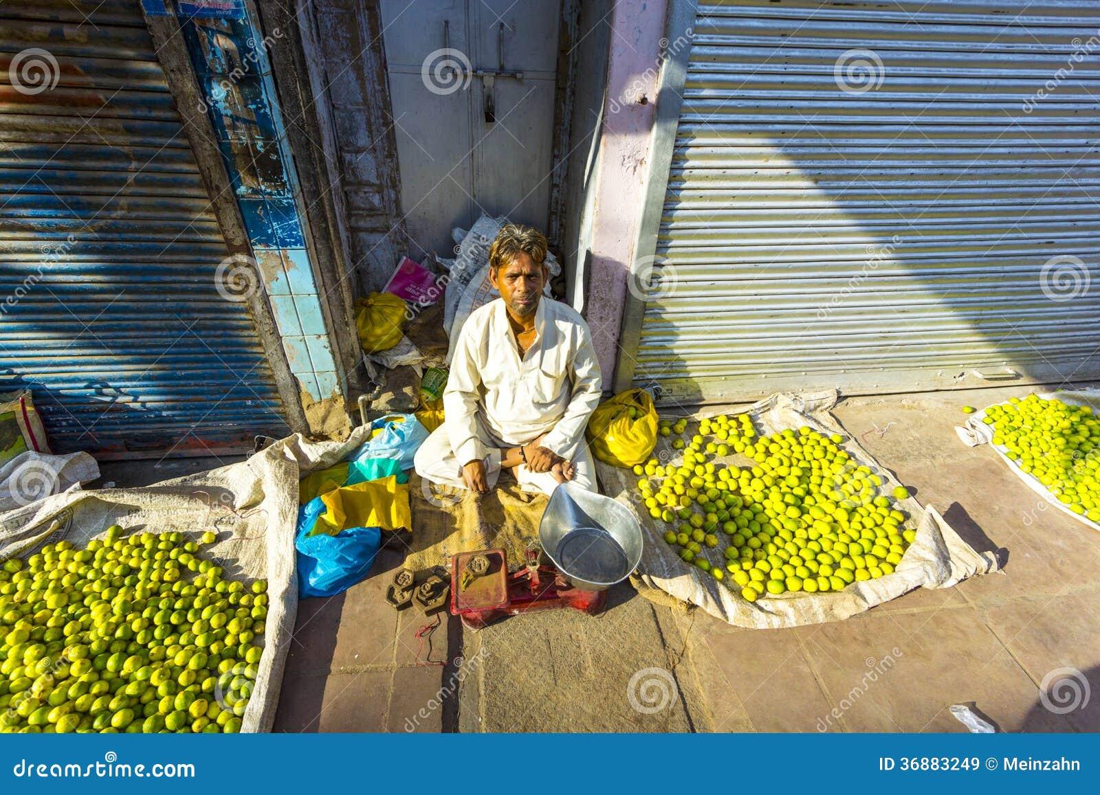 Typical vegetable street market