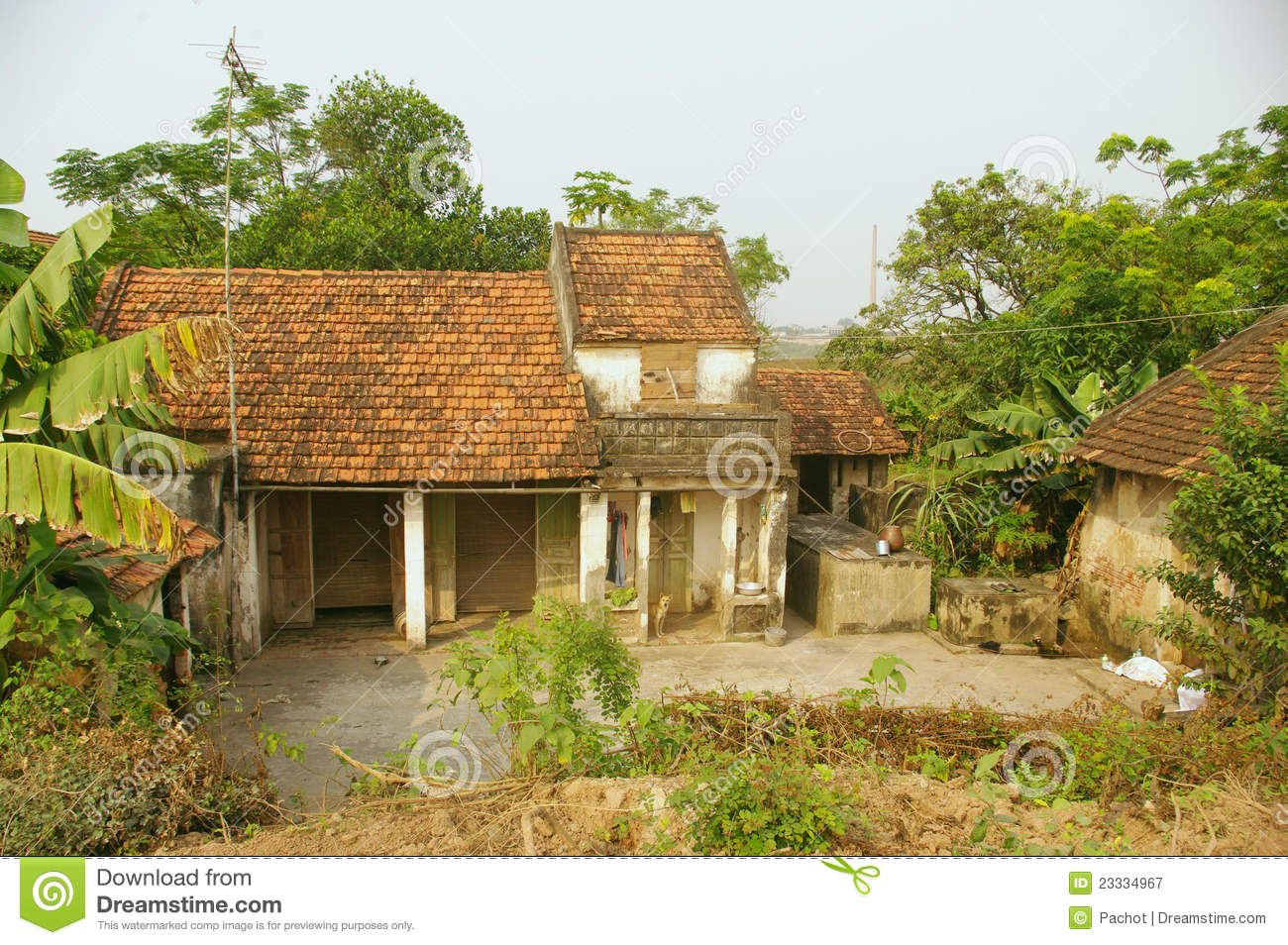 Typical Vietnamese House Royalty Free Stock Photography