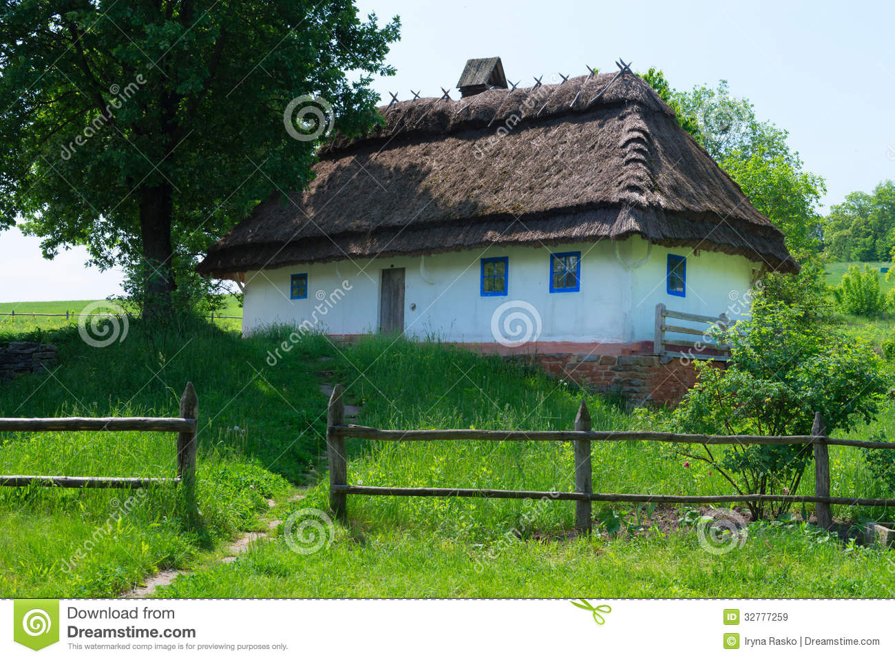 Typical village house stock image image of countryside 32777259 - Countryside dream gardens ...