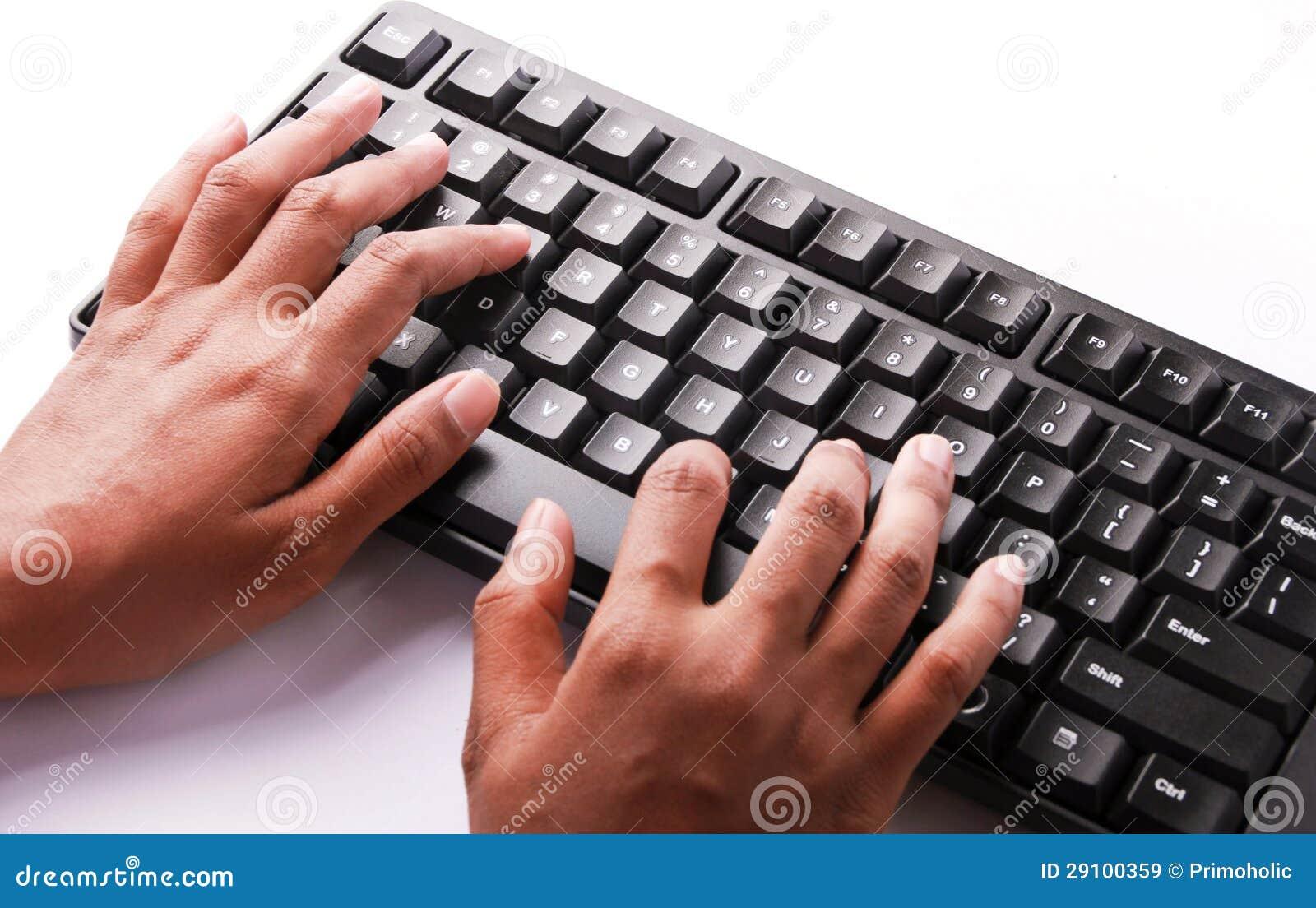Typing On Keyboard Typing Keyboard stock ...