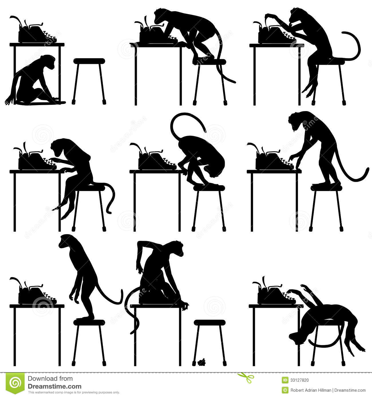 Image result for monkeys typing