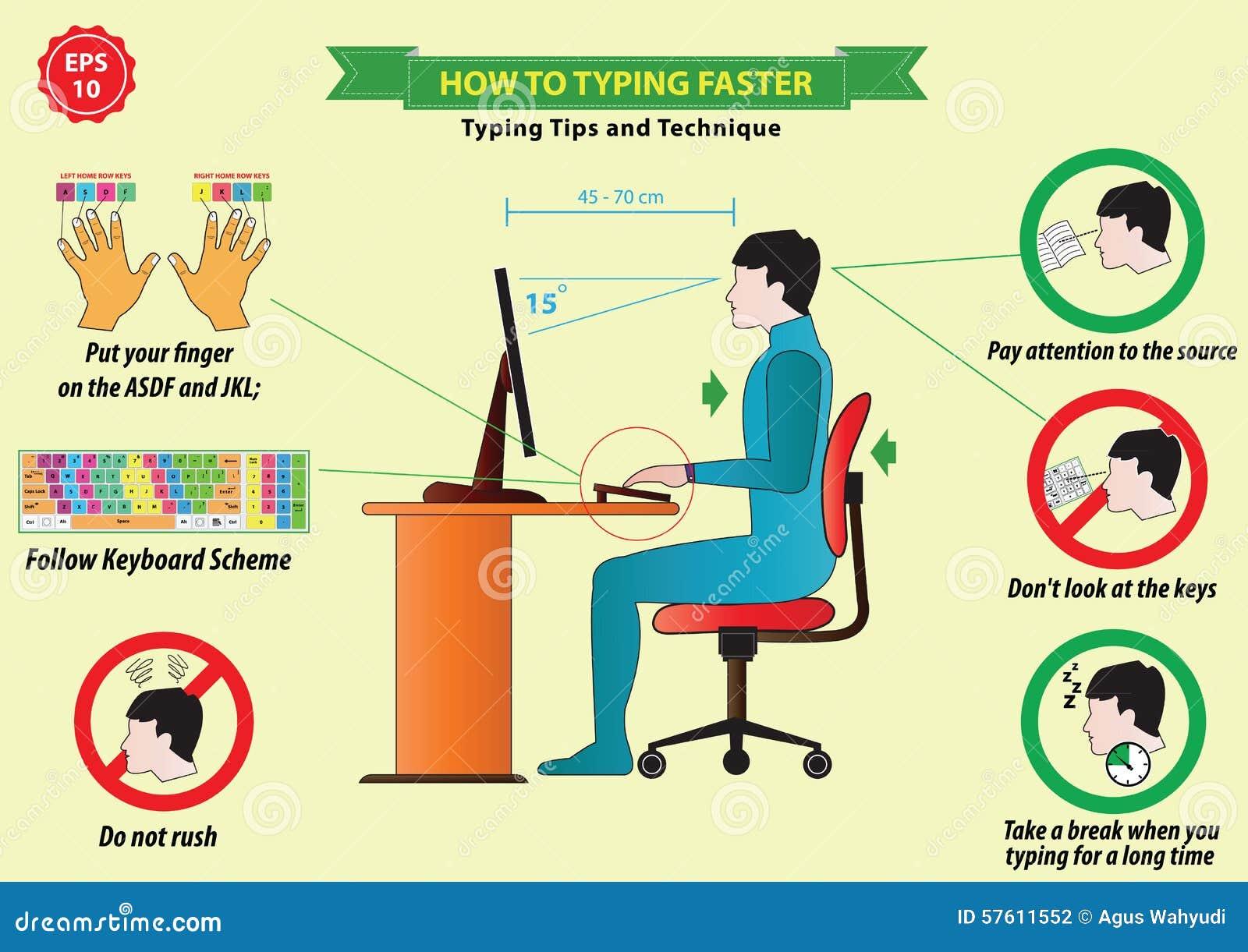 Typing Tips Stock Illustration Image 57611552