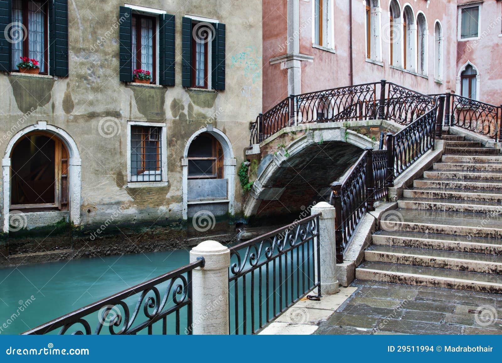 Typisch kanaal in Venetië