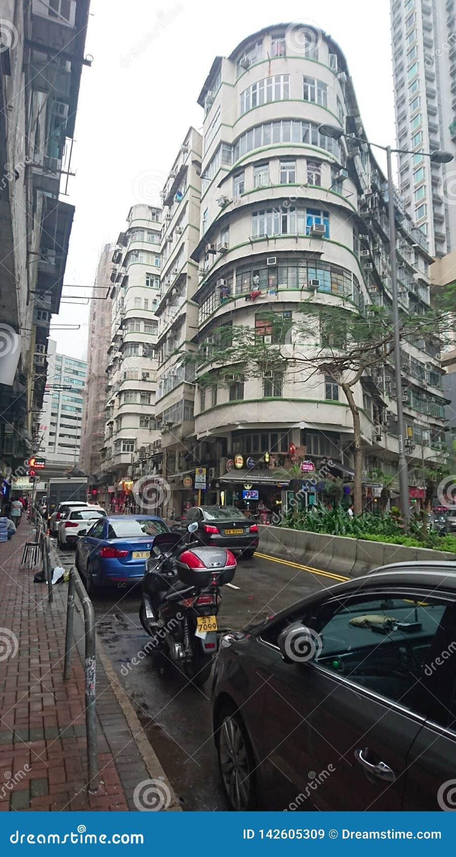 Typisch Oud Hong Kong Building