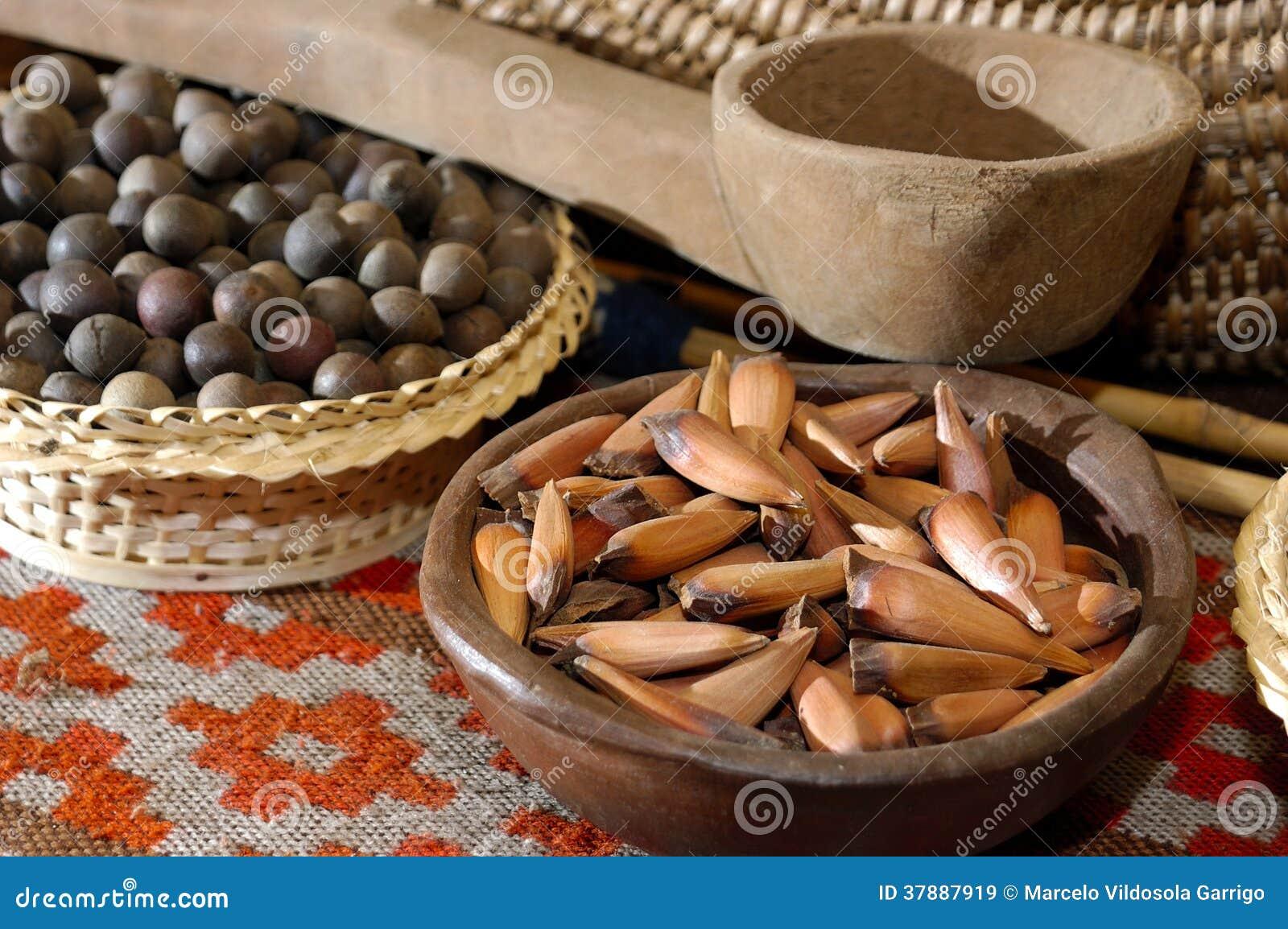 Typisch voedsel Mapuche, Chili