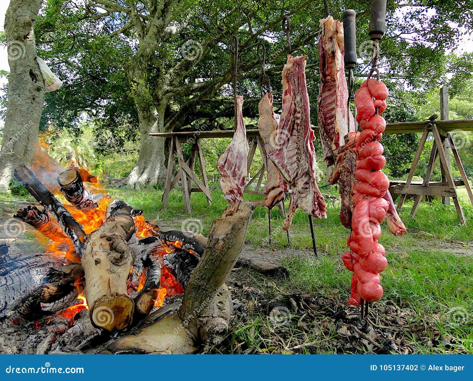 Typische barbecue van het zuiden van Brazilië