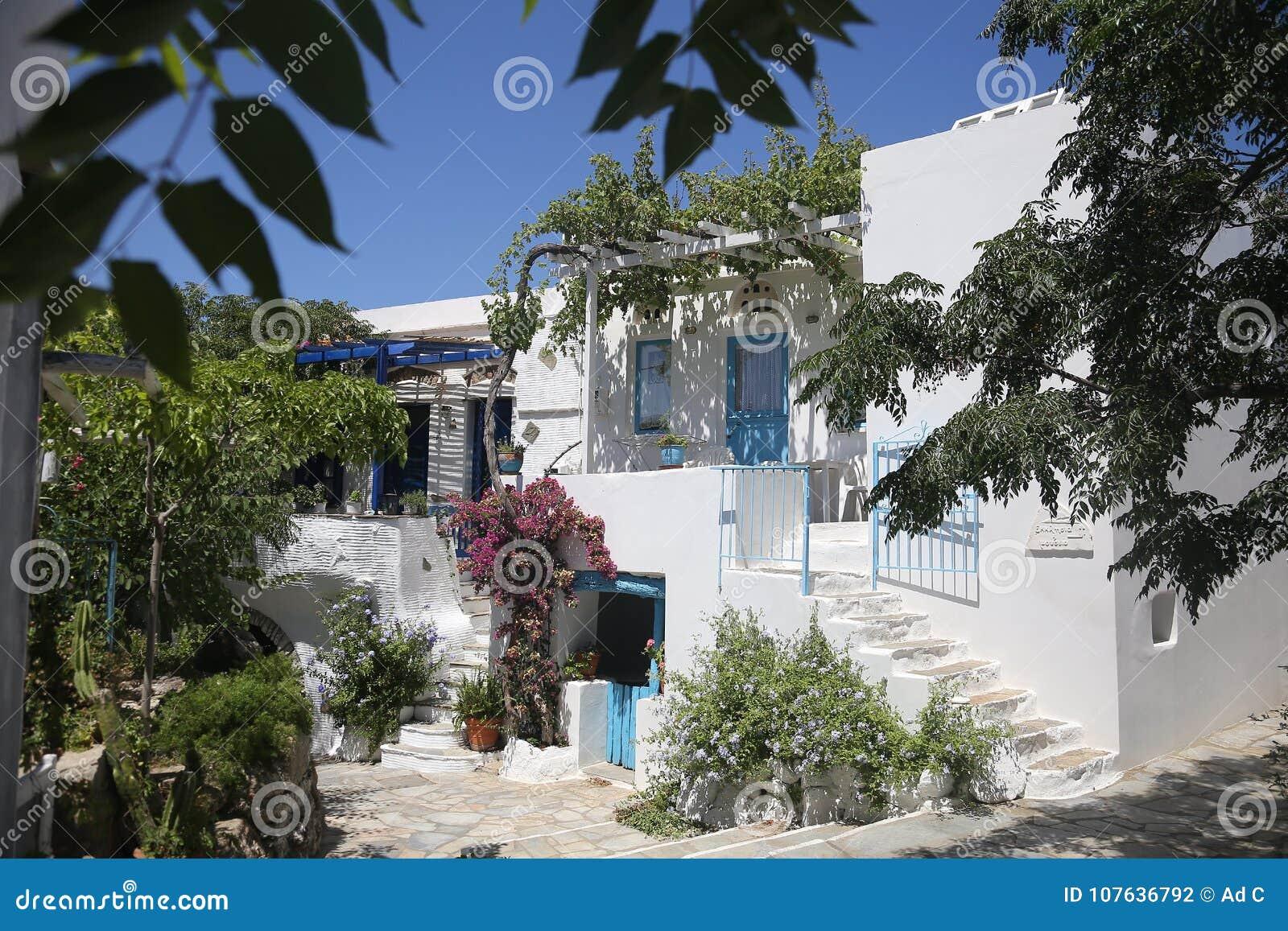 Typische griechische Insel rehabilitierte Haus in Tinos, Griechenland