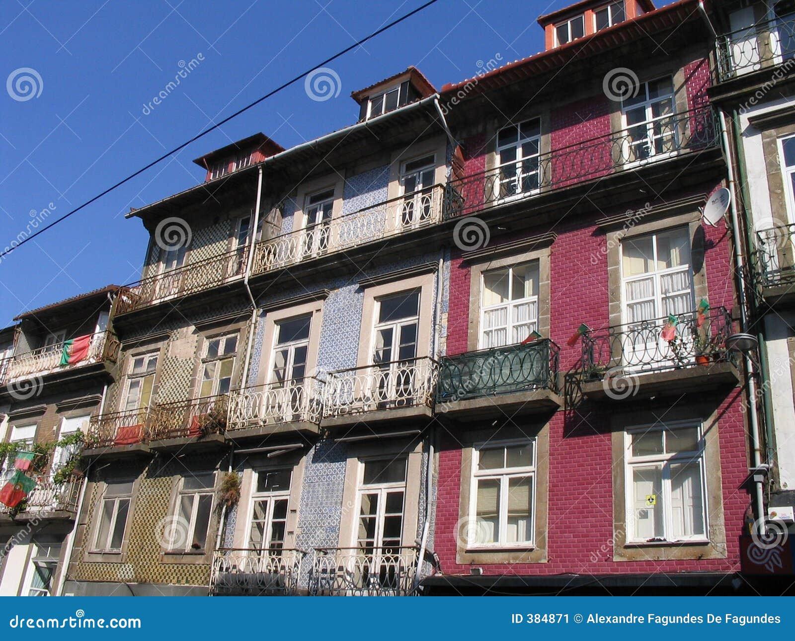 Typisches buntes Gehäuse - Porto