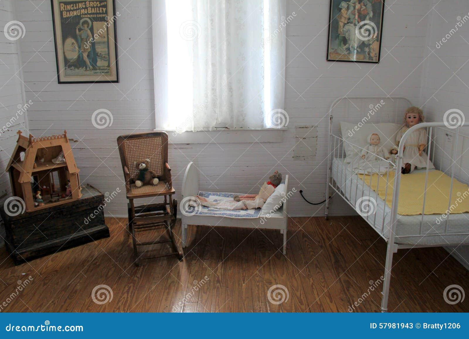 Typisches Kinderzimmer Innerhalb Des Hauses 1900 Pablo Beach Florida ...
