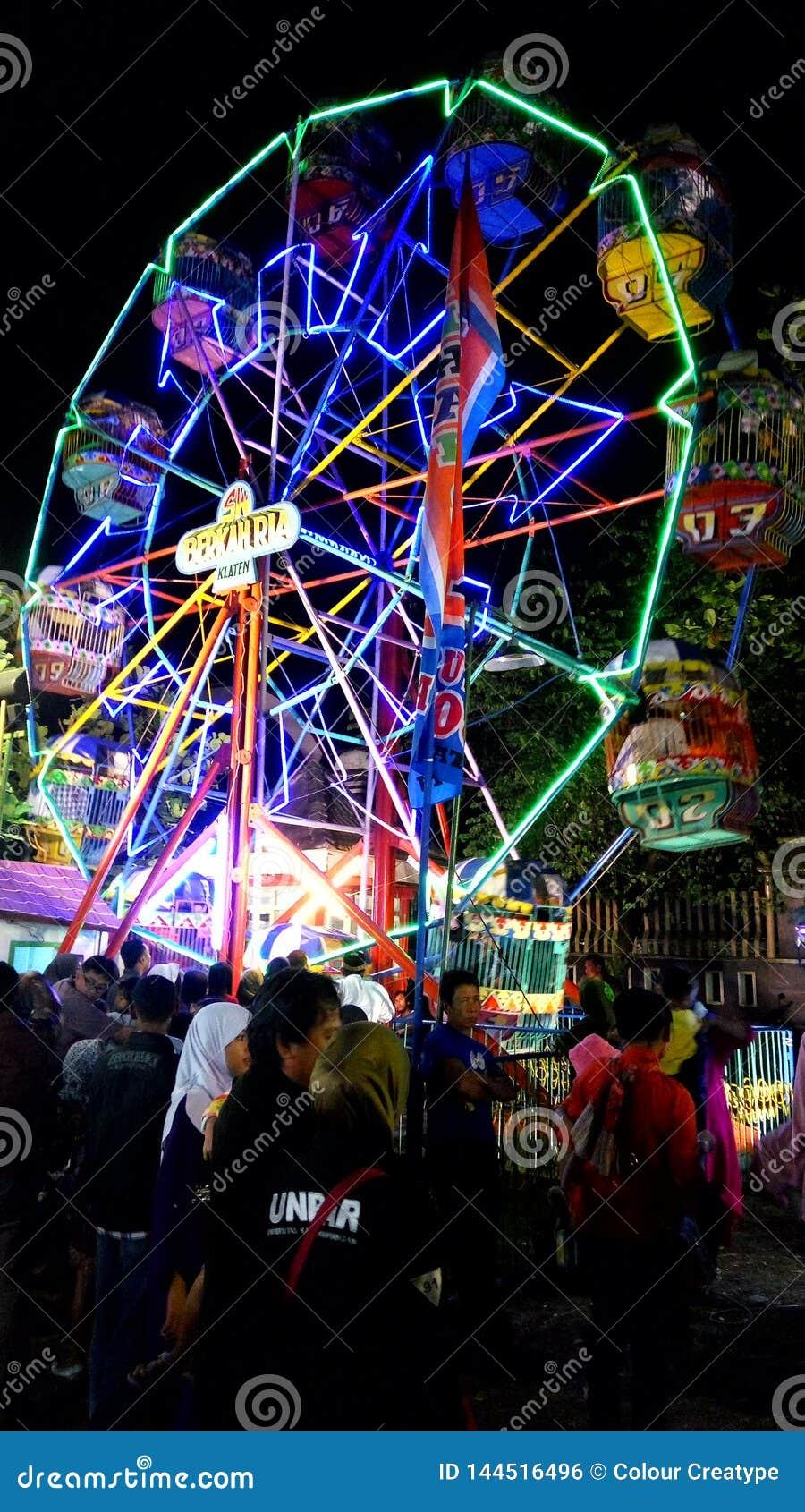 Typisk festival från Indonesien