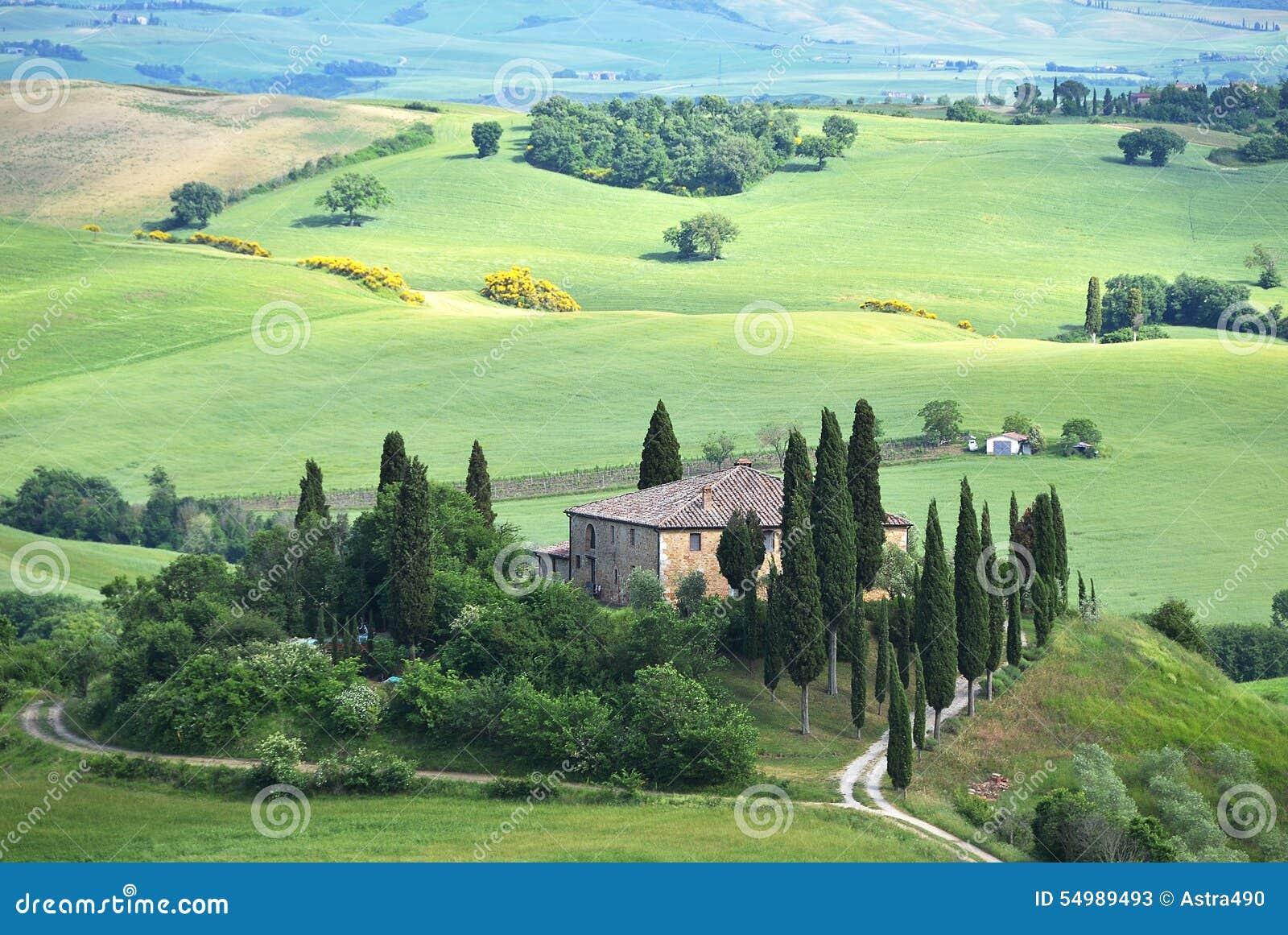 Typisk tuscan liggande italy