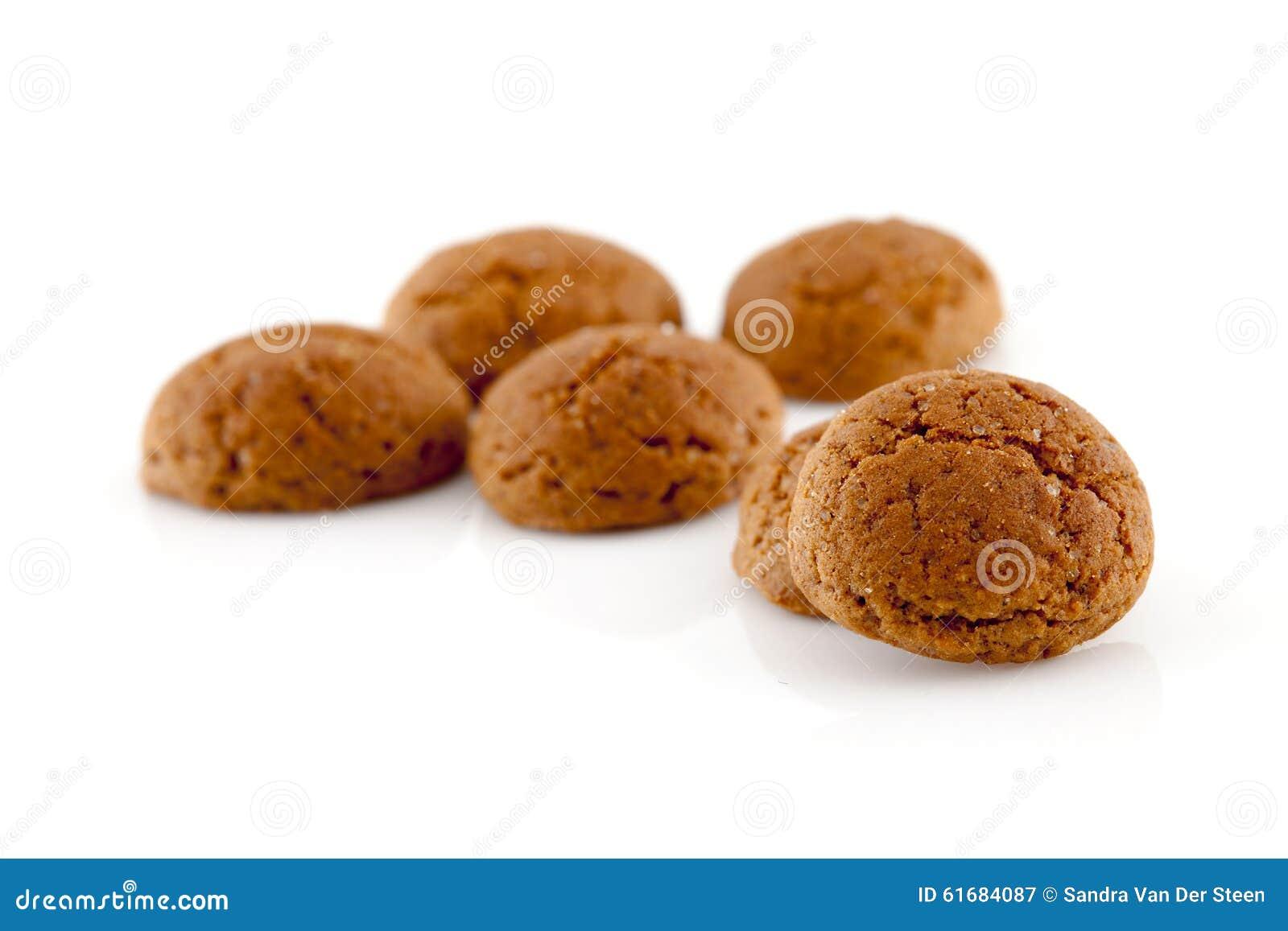 Typiska holländska sötsaker: pepernoten (ingefärskakor) för en beröm