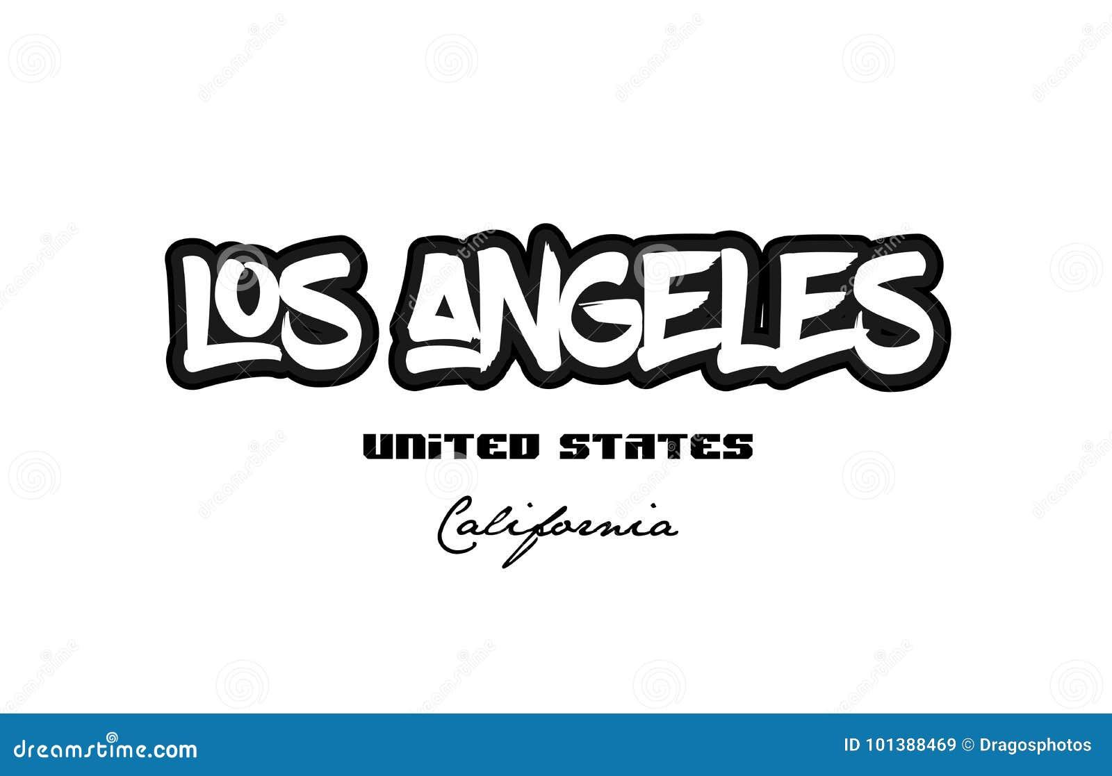 Typogra de la fuente del graffitti de la ciudad de Estados Unidos Los Ángeles California