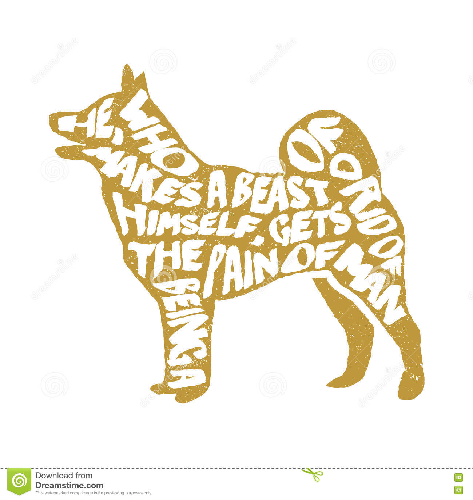 Typografische affiche met hondsilhouet vector illustratie afbeelding 74870799 - Afbeelding van huisdecoratie ...