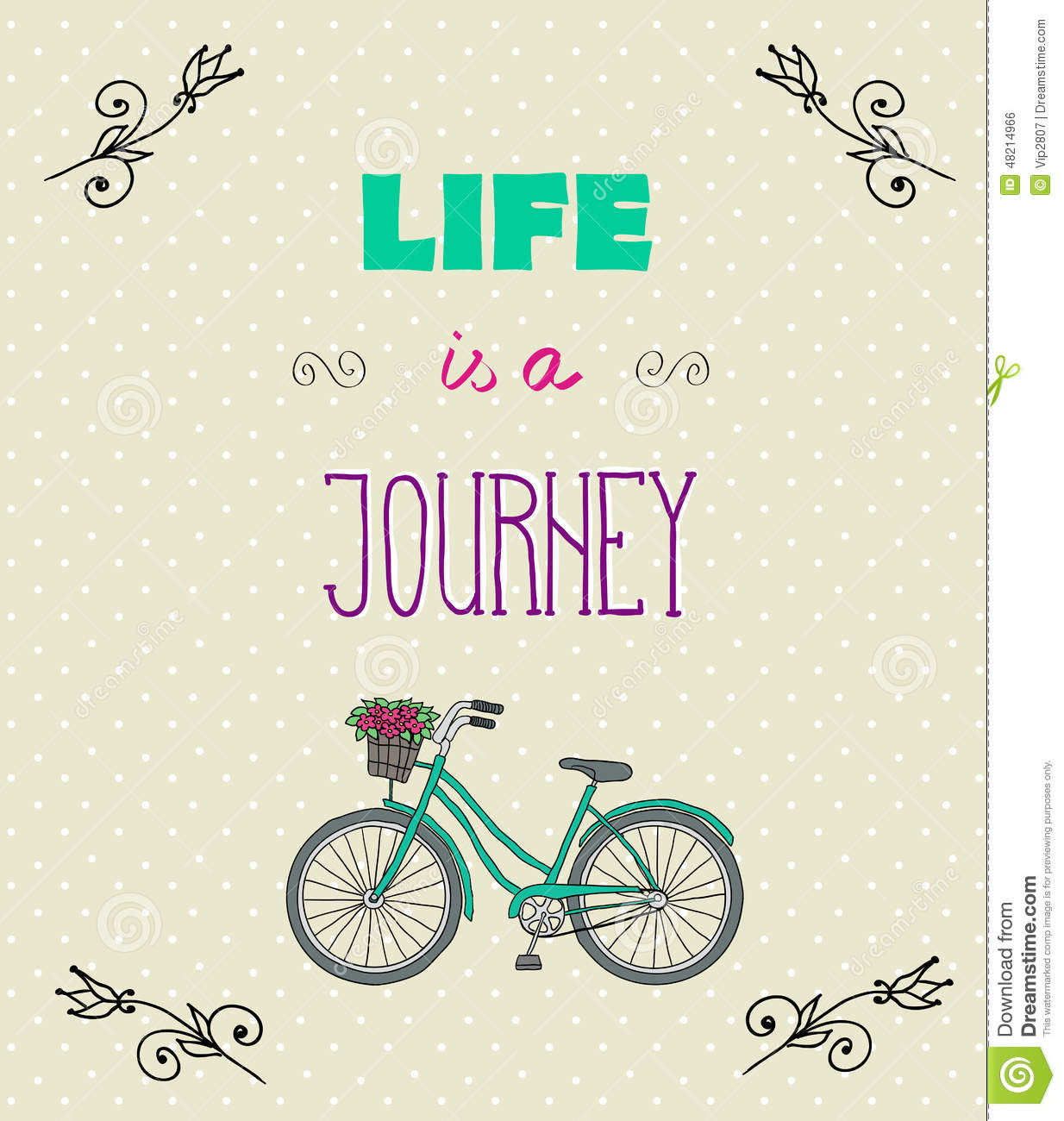 typographic background with motivational quotes life is a