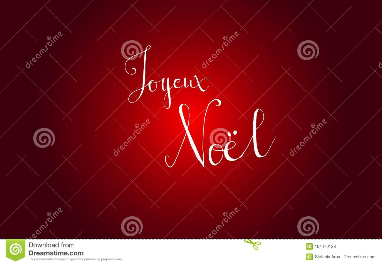 lettering merry christmas in french language joyeux noel for your design isolated on red background vector graphic elements perfect for christmas