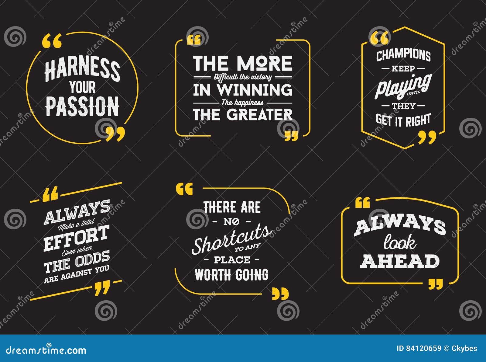 typographic quote template. template vector set. stock vector
