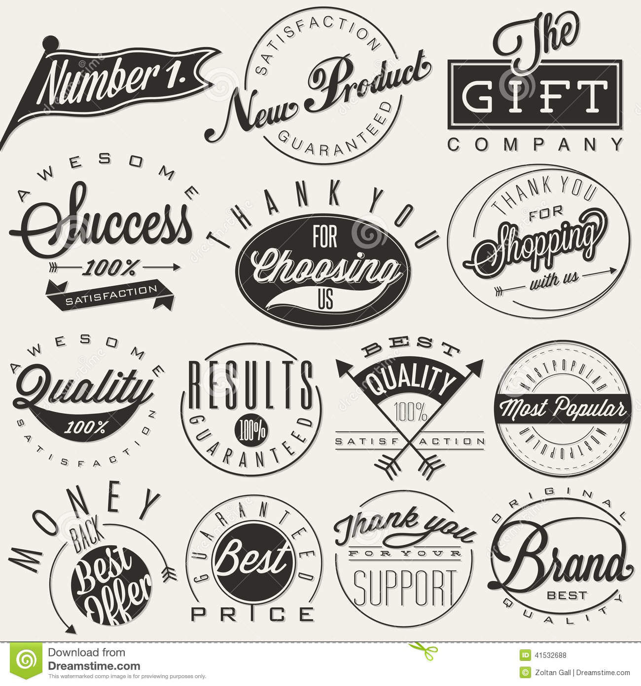 typographic symbols stock vector image of offer guaranteed 41532688