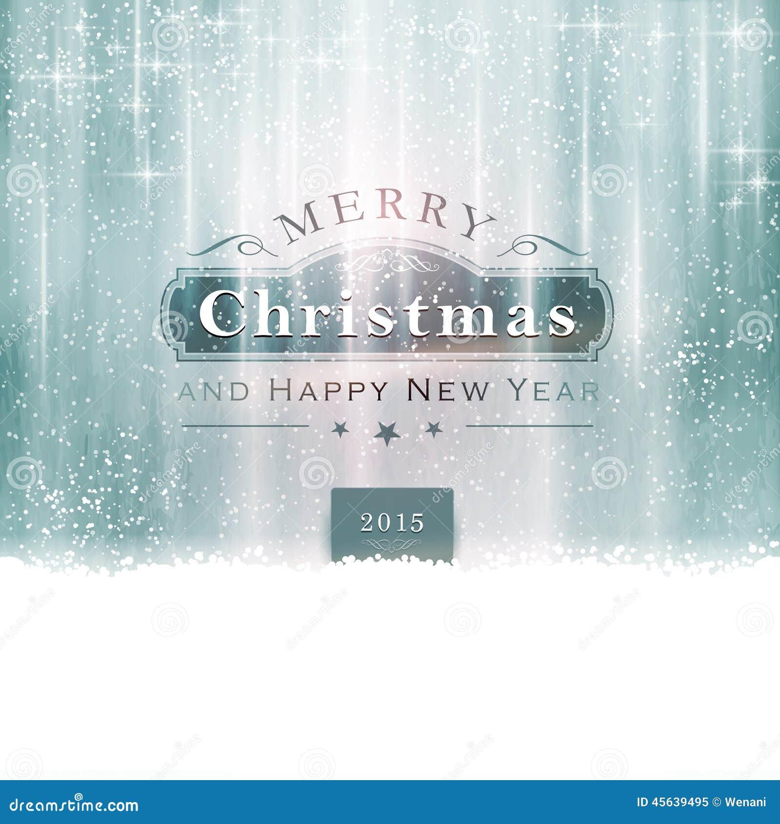 Typographie bleue argentée de Joyeux Noël