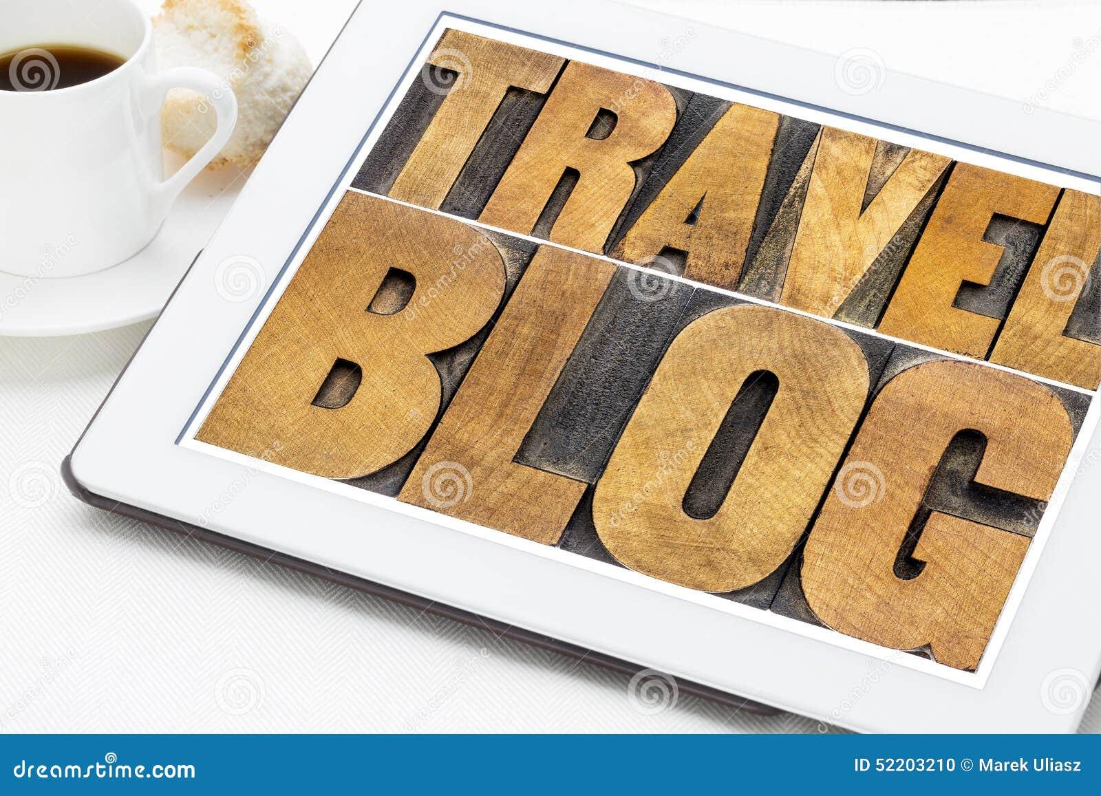 Typographie de blog de voyage sur le comprimé