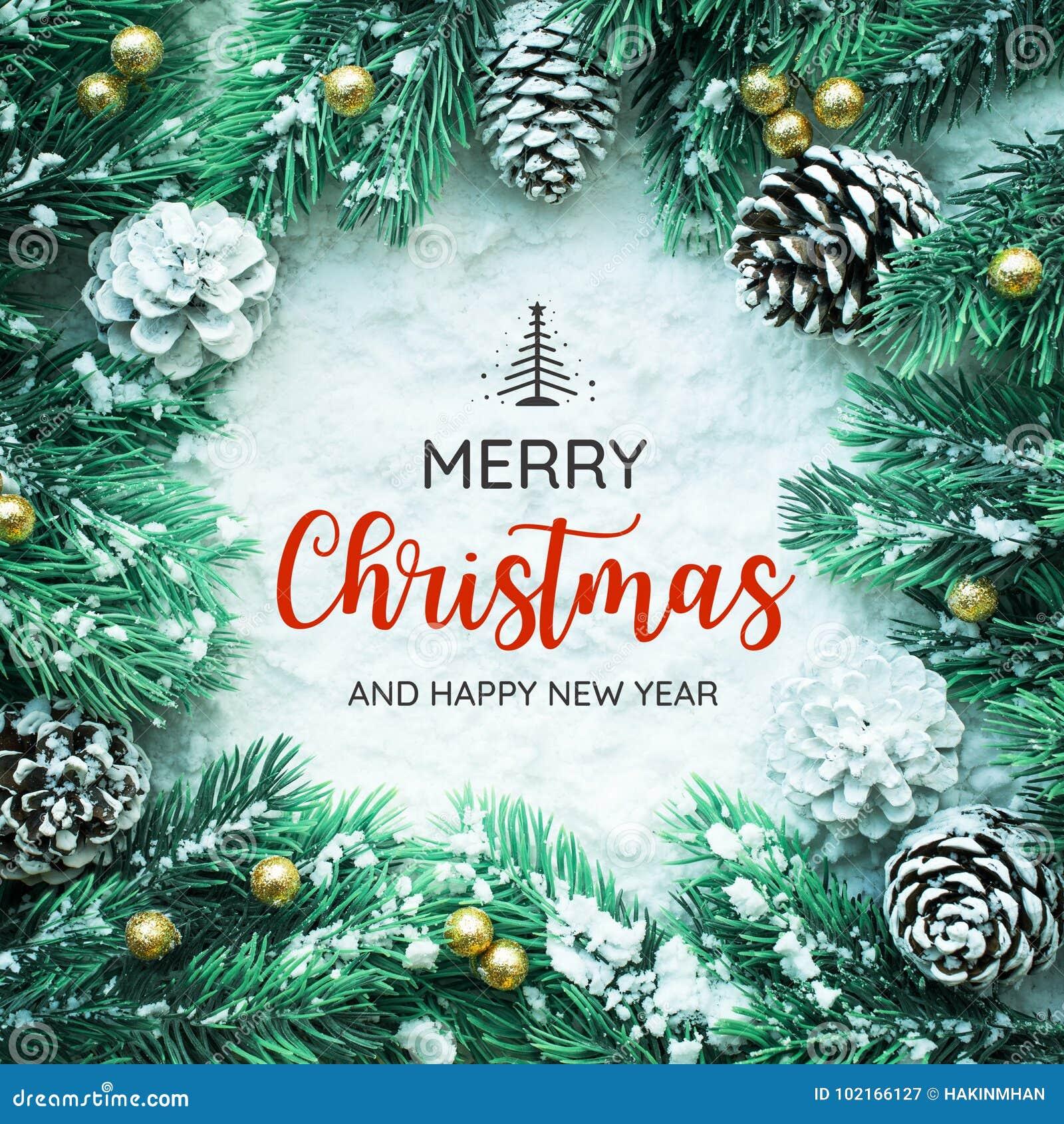 Typographie de JOYEUX NOËL ET de BONNE ANNÉE, texte avec l ornement de Noël