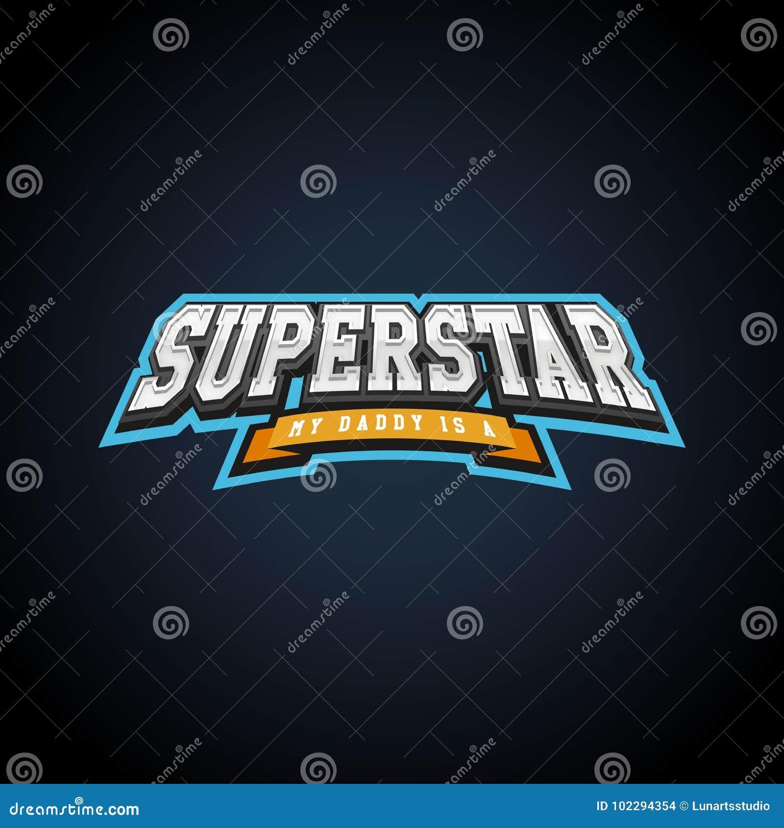 Typographie de puissance de superstar pleine, graphiques de T-shirt, vecteurs