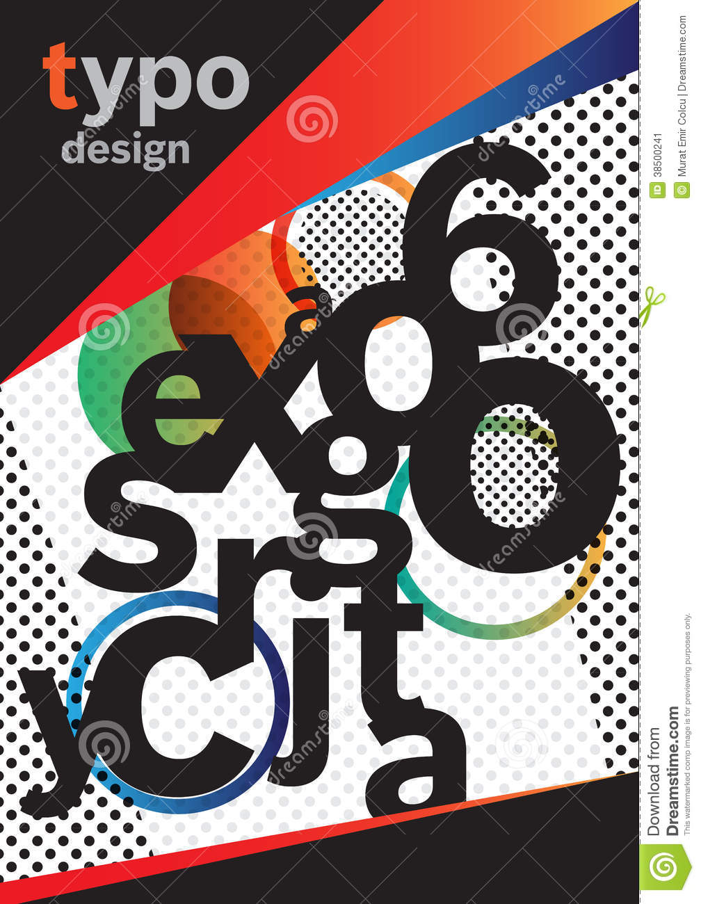 Typographic Book Cover Ups : Typography brochure design stock image