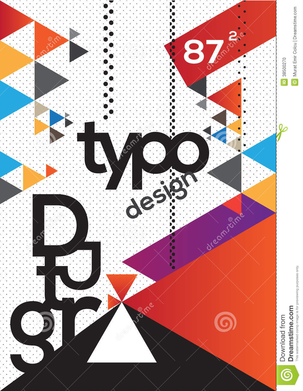 Typographic Book Cover Zwart ~ Typography brochure design stock illustration image of