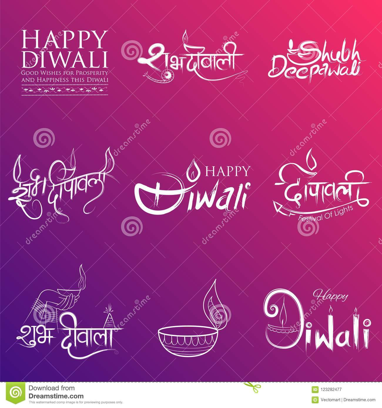 Typography calligraphy on diwali holiday background for light illustration of typography calligraphy on diwali holiday background for light festival of india with message in hindi meaning greetings for happy dipawali m4hsunfo