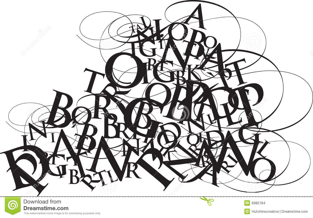 typography jumble stock images