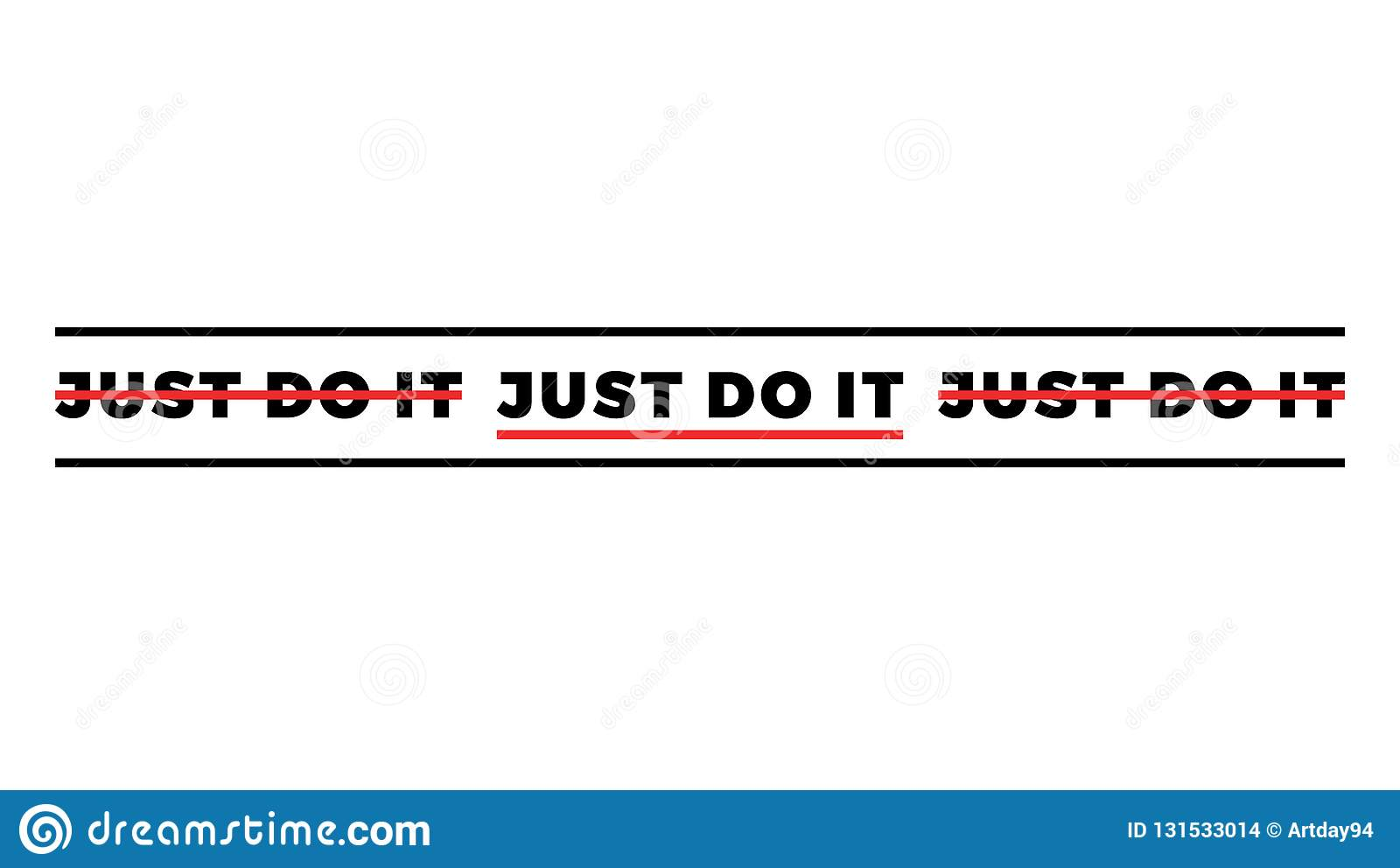 Typography Slogan For T Shirt Printing  Just Do It Modern