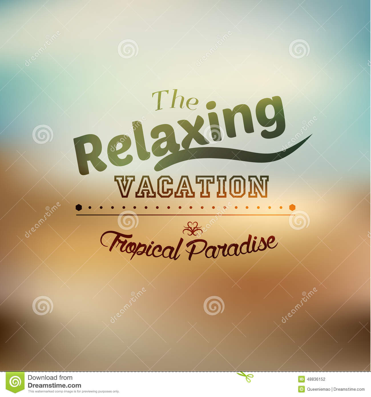 Typography Summer Holiday Quote Vector Design Stock
