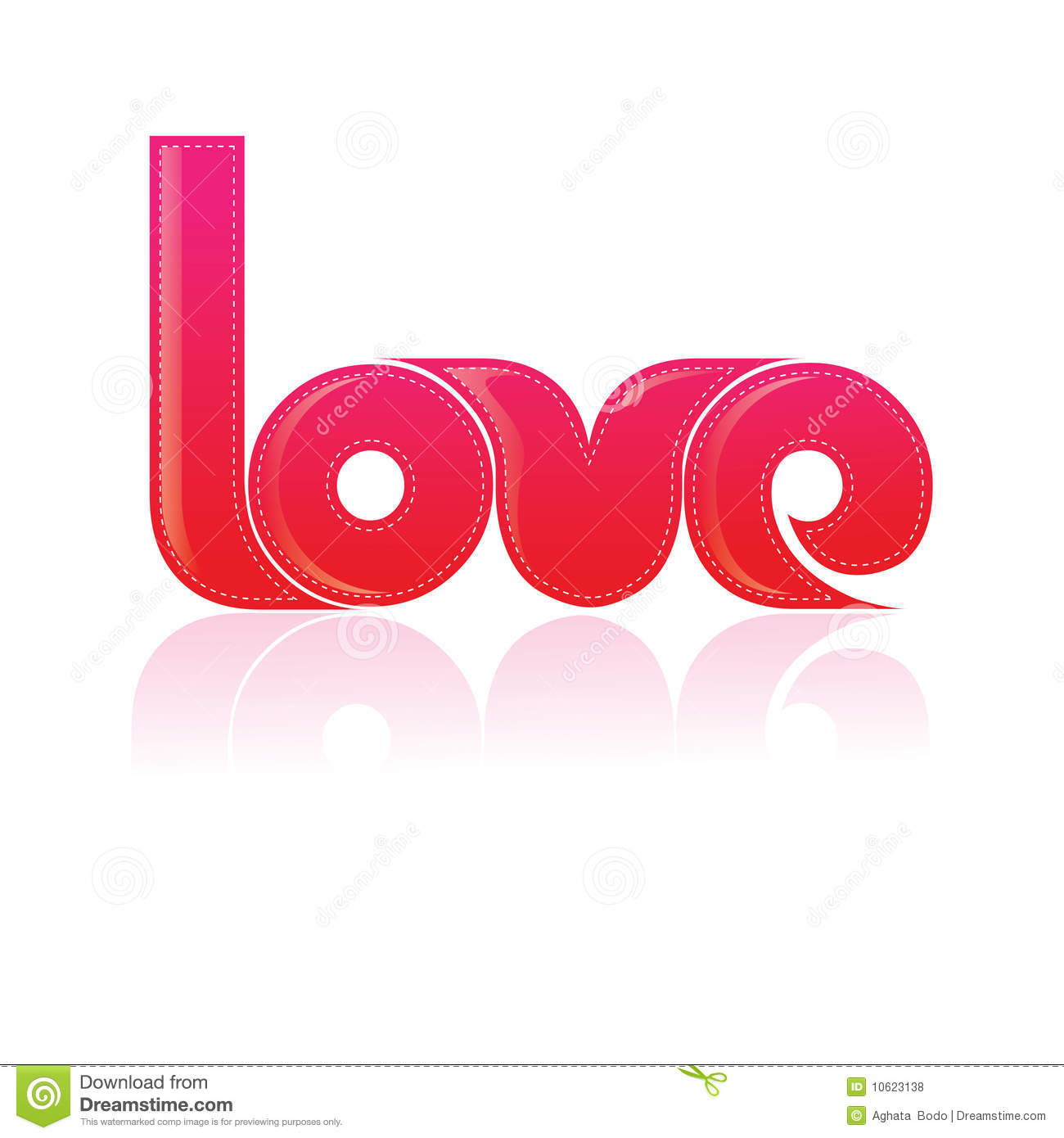 Typography t shirt design the word love stock for Love in design