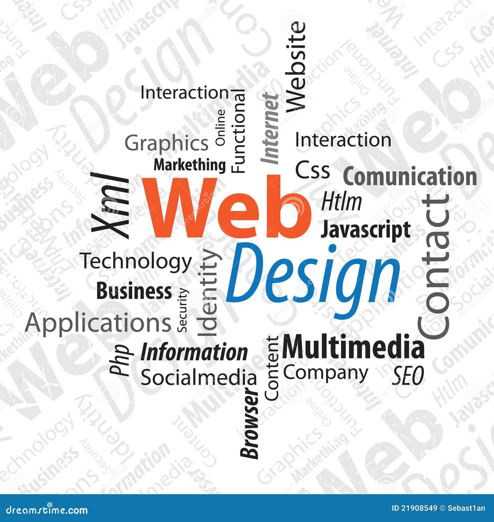 Vector Illustration Web Designs: Typography Web Design Stock Vector. Illustration Of