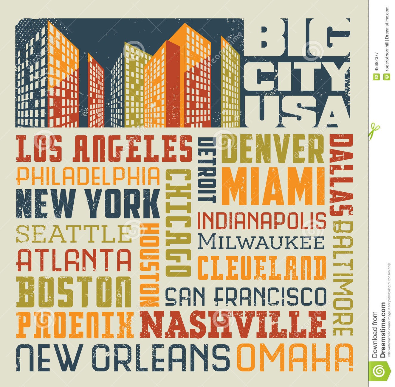typography word collage design united states cities stock vector illustration of omaha many