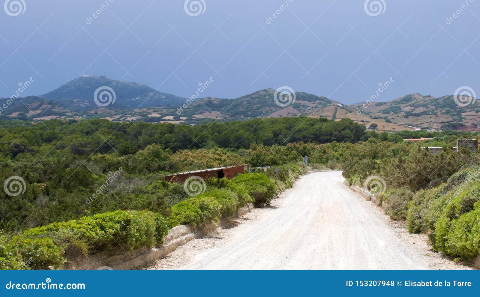 Typowa krajobrazowa północ Menorca