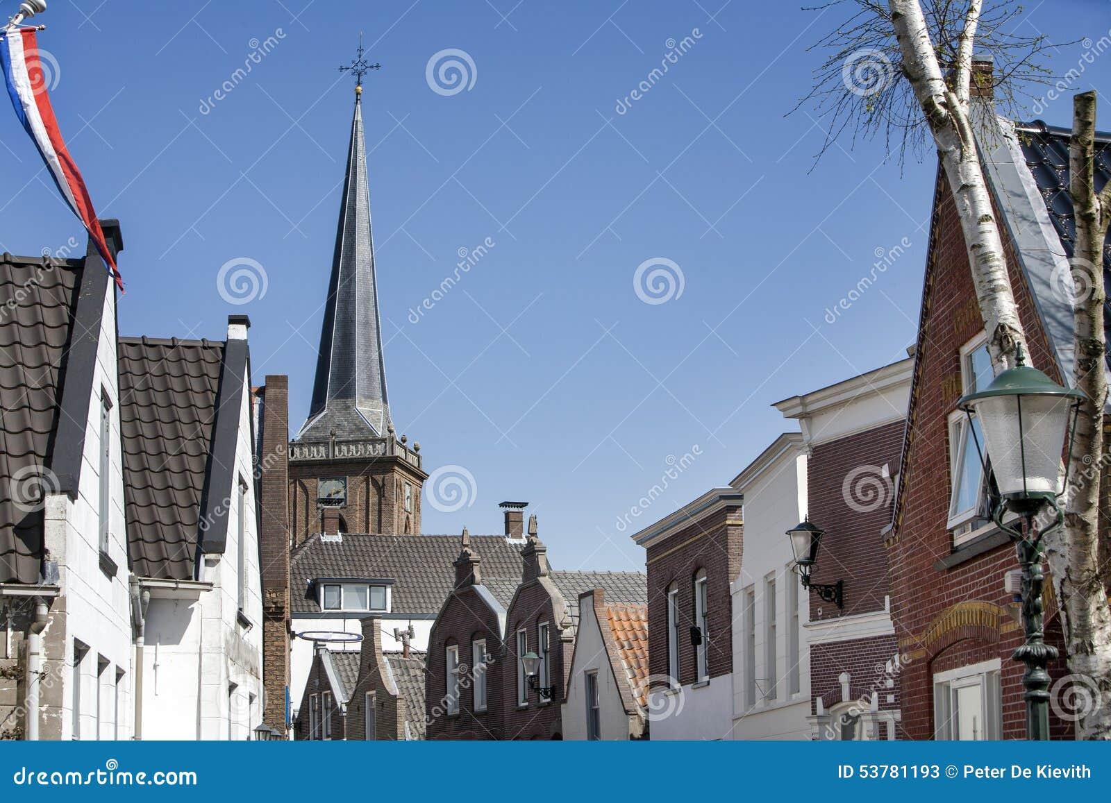 Typowy Holenderski wioski centrum